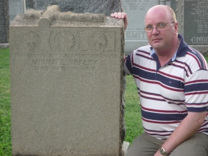 At my Grand Uncle's Grave - July 26th 2009
