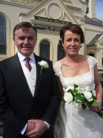 Leaving the church - John and Maura Duffy!