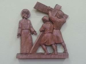 Second Station -Jesus is made carry his cross