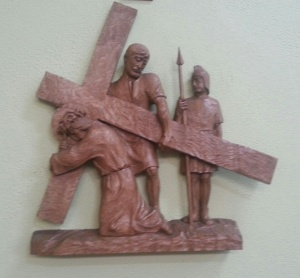 Fifth Station - Simon helps Jesus carry his cross