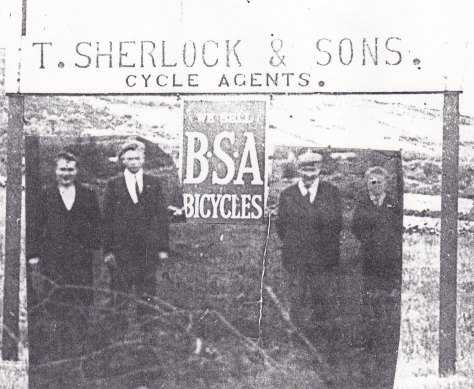 This looks like a photo of my father, Bill (left) with his brother Thomas John, his father (Tom) and brother Jimmy