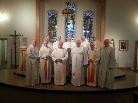 Together again!  Following Mass in Kiltoom Parish Church