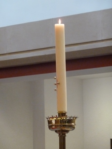 The Paschal Candle in the Monastery Chapel