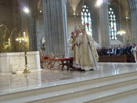 Taking possession of The Chair - Bishop's place in the Cathedral of his diocese